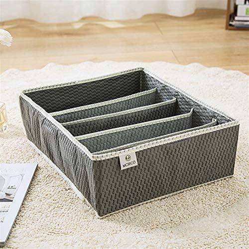 GMKJ折り畳み式収納袋主催 4ピース不織布下着収納ボックス4ピース折りたたみ靴下収納ボックス仕上げボックス家具衣類収納ボックス (色 : Gray)