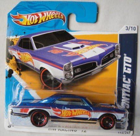 Blue 67 Pontiac GTO 3//10 Short Card Hot Wheels 1:64 Scale 2012 Racing
