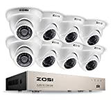 ZOSI 8Channel 720P H.264 CCTV DVR 8 Outdoor/Indoor dome Color 1280TVL Security Surveillance
