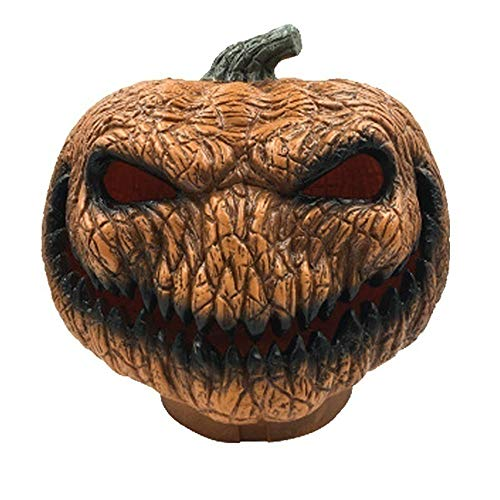 Z-zone Scary Orange Pumpkin lamp Halloween Decoration with LED Lights