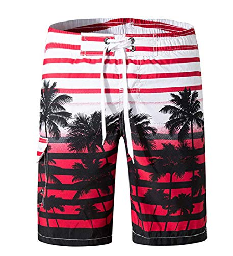 Necosthua Mens 3D Swim Trunks Underwear Quick Dry Surf Beach Shorts Casual Swimwear Holiday Swim Trunks XXXL