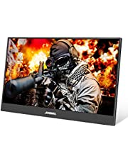 Portable Monitor,JOHNWILL 15.6'' FHD IPS USB Type-C LCD Monitor with HDMI Input,Type-C(USB-C) Powered,Built-in Speaker,Gaming Monitor for Raspberry Pi PS3/PS4/Xbox 360 Computer PC