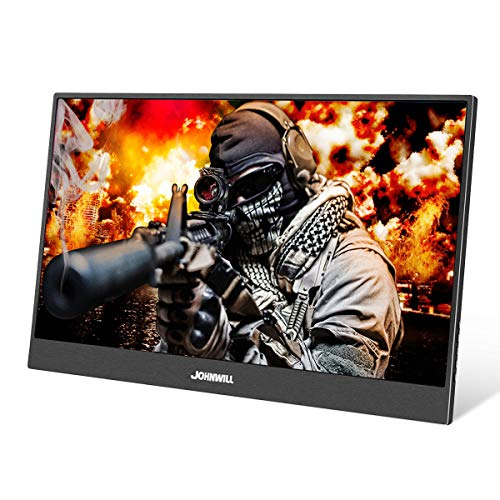 Portable Monitor,JOHNWILL 13.3'' FHD IPS USB Type-C LCD Monitor with HDMI Input,Type-C(USB-C) Powered,Built-in Speaker,Gaming Monitor for Raspberry Pi PS3/PS4/Xbox 360 Computer PC