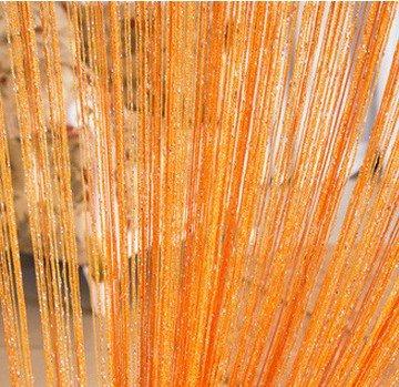 ave split Decorative Door String Curtain Wall Panel Fringe Window Room Blind Divider Tassel Screen Home 100cm200cm (Orange18)