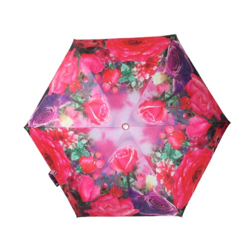 Oh My Lady Romantic Red Roses Super Light-weighted (200g) Folding Umbrella with Anti-UV and Windproof Funtions Suitable for Both Sunny and Raining Days- Available In 5 Patterns ()