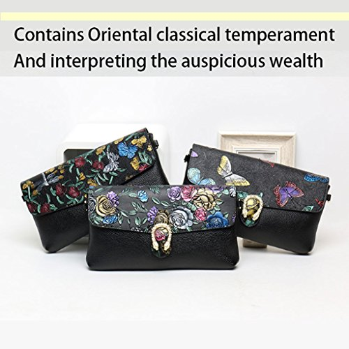 Temperament Handbag Personalized Leather Ladies Oriental Leather DEI Fashion Wild Bags Classical Korean Temperament Gold Bag Color Gold Bags Leather QI Clutch zwgA0