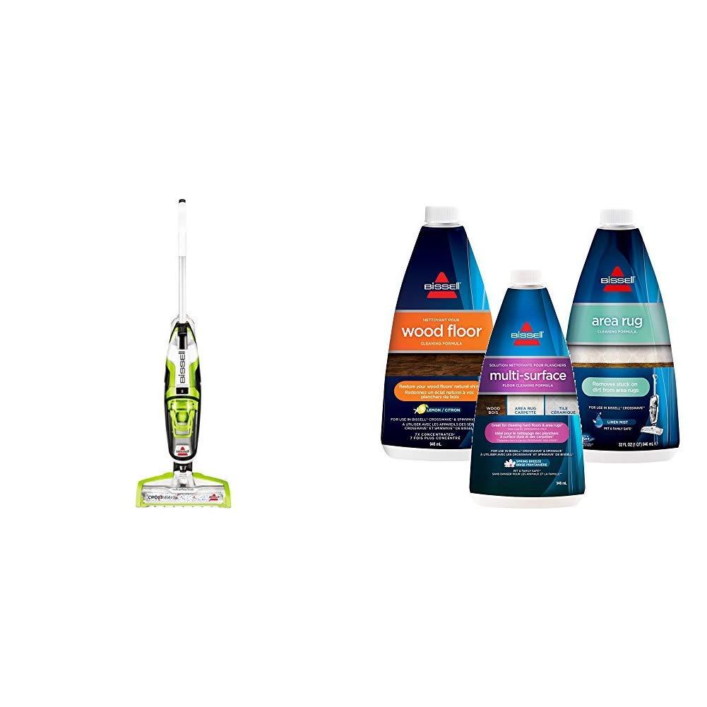 Bissell CrossWave + Combo 3 Pack Multi-Surface, Wood Floor & Area Rug Formula