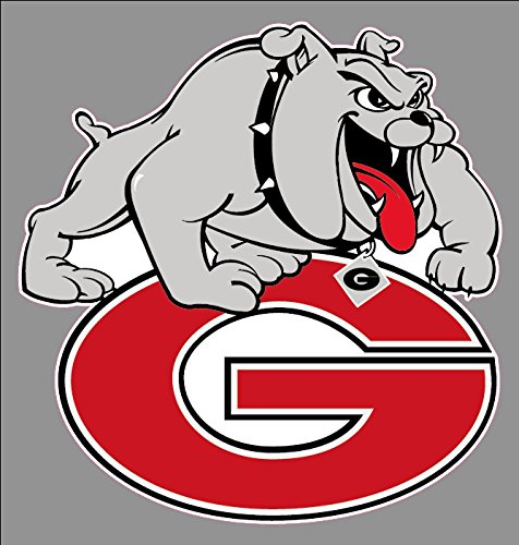Georgia Bulldogs Wall Mirror - USTORE Vinyl Sticker Decal University of Georgia Bulldogs Premium Logo Weather Resist for Windows Car Cell Phone Bumpers Laptop Wall, 6