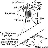 Bosch DWW06W650 - Campana extractora, color plateado: Amazon.es: Grandes electrodomésticos