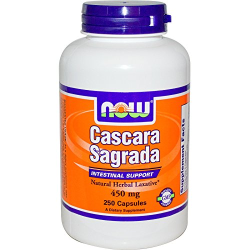 Cascara Sagrada, 450 mg, 250 Caps by Now Foods (Pack of 2)