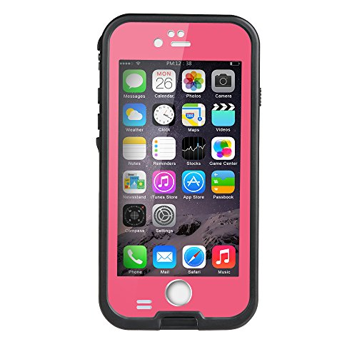 Waterproof and Shockproof Case for iPhone 6/6s (Pink) - 8