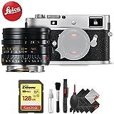 Leica M-P (Typ 240) Digital Rangefinder Camera (Silver) + Leica Summicron-M 28mm f/2 Lens (11604) + Professional Accessory Combo