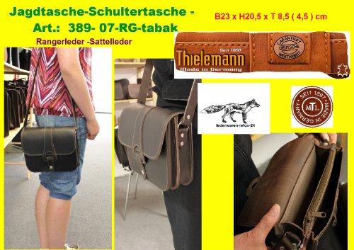 Chasse th389–07RG Tabac Ranger cuir Sacoche à bandoulière original Thiel Homme/lefox