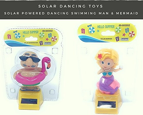 [Solar Powered Dancing Swimming Man Pool Party and Solar Mermaid] (Frog Swimming Costume)
