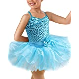 Girls Sequins Ballet Dress Dance Leotard Shiny Princess Costume
