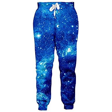 KKWF 3D Fashion Men Women Galaxy Space Print Joggers Pants Slim Fit Trousers