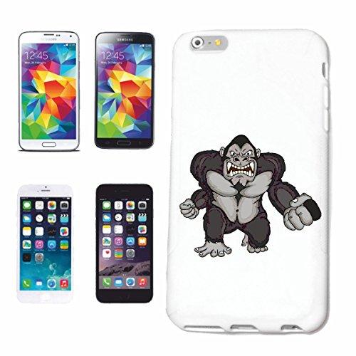 caja del teléfono Huawei P9 IMPORTANTE GORILA MONO Chimpancé del GORILA posterior de la plata APE CHARLY MONKEY KING KONG Caso duro de la cubierta Teléfono Cubiertas cubierta para el Apple iPhone en