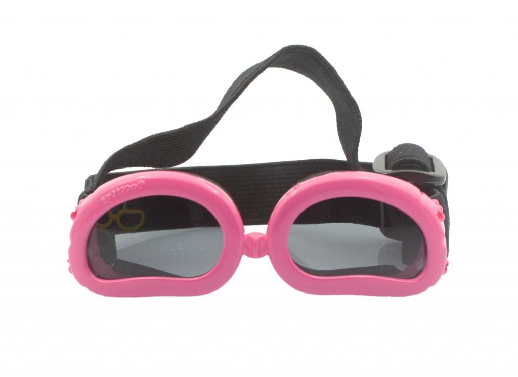 Pet Leso Doggles Anti-ultraviolet Sunglasses Goggles Waterproof Pet Sunglasses For cat or Small Dogs - Pink
