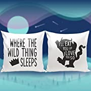 Nursery Bedding Set, Custom 16x16, Set 2 of Wild Thing pillow covers, baby boy bedding, Where the Wild things Are, Crown pillow cover, boy room décor, Halloween Gift