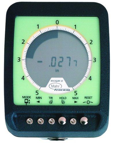 Mahr Federal 2033101 Maxum III Digital Indicator, 0.375'' Stem, 0.670'' Stem Length, Short Range by Mahr Federal