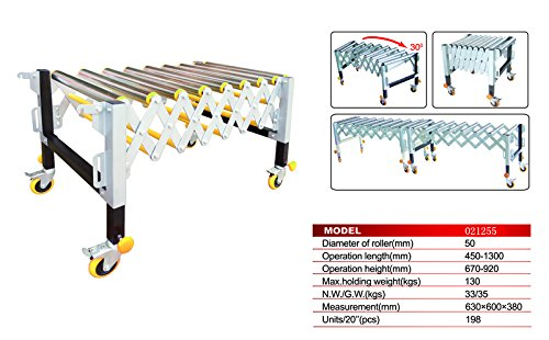 Safety Material Handling Supply Adjustable 9 Roller Stand Transport Warehousing #021255