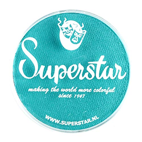 Superstar Face Paint - Teal 209, Hypoallergenic, Gluten Free & Cruelty Free - Child Friendly, Great for Fairs, Carnivals, Party & Halloween Painting (45 gm) -