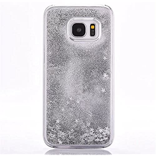 Galaxy S7 Edge Liquid Case,New Sparkle Stars Creative Design Flowing Liquid Floating Luxury Bling Glitter Transparent Sales