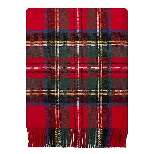 Lochcarron of Scotland Royal Stewart Tartan Lambswool Throw - Tartan Lambswool Throw