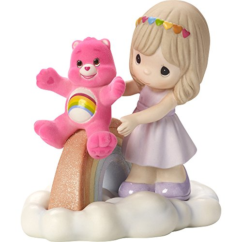 Precious Moments Company 163041 Precious Moments, Care Bears, You Fill My Heart with Cheer, Bisque Porcelain Figurine, 163041
