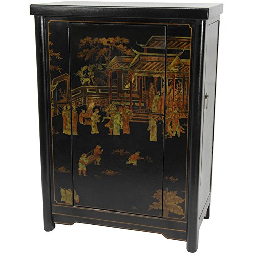 Black Oriental Storage Cabinet (Oriental Furniture Black Lacquer Wine Cabinet)