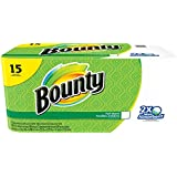 Bounty Paper Towels, White, 15 Regular Rolls