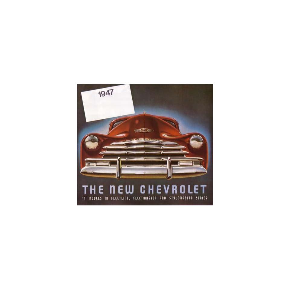 1947 Chevrolet Sales Brochure Literature Book Features Options Colors Specs