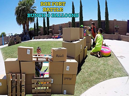 Box Fort Battle With 1000 Bunch Of Balloons