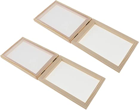 Lot de 4 cadres de papier traditionnels en bois pour enfants et adultes 15 x 18 cm