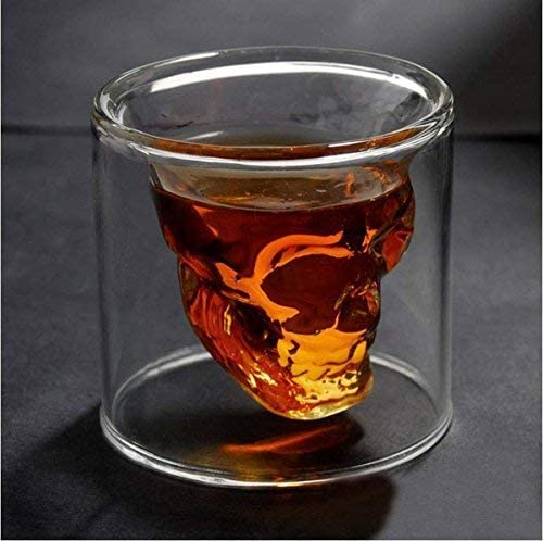 Set of 4 Sconosciuto Generic SKULL4B Fred And Friends Doomed Crystal Skull Shotglass Trasparente