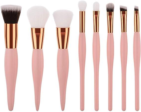 Brocha Kabuki para maquillaje de alta calidad, 8 unidades, color ...