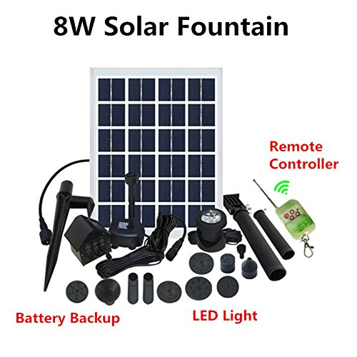Small Solar Fountain Lights in US - 6