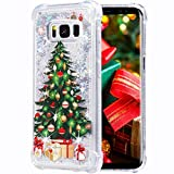 Flocute Galaxy S8 Case, Galaxy S8 Glitter Christmas Case Bling Sparkle Floating Liquid Soft TPU Cushion Luxury Fashion Girly Women Cute Case for Samsung Galaxy S8 (Christmas Tree)