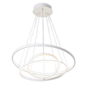Koonting Design Circulaire Moderne Led Lustre Suspension Reglable Lumiere Plafonnier Contemporain Plafond Luminaire Bureau Salle A Manger Chambre A