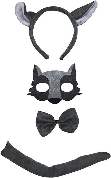 Petitebelle Lobo máscara de la venda de Bowtie cola Disfraz de 4 ...
