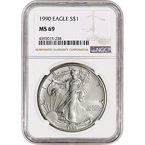 1990 American Silver Eagle $1 MS69 NGC
