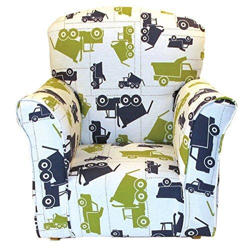 Brighton Home Furniture Toddler Rocker in Dump Truck Printed Cotton by Brighton Home Furniture