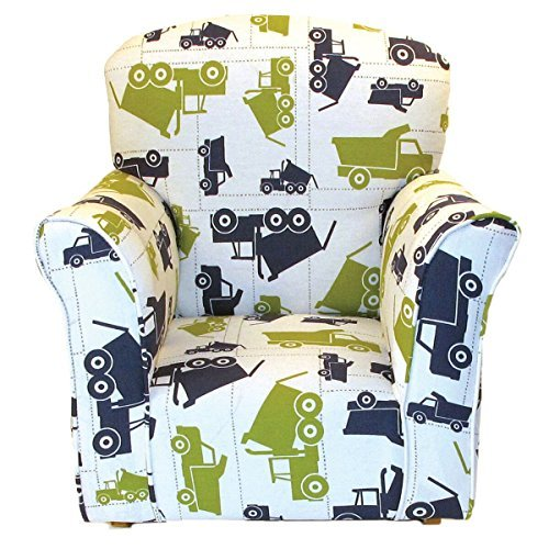 Brighton Home Furniture Toddler Rocker in Dump Truck Printed Cotton