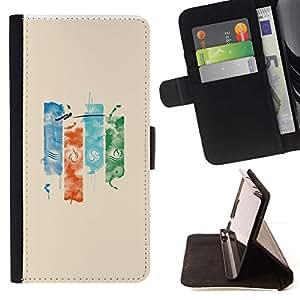 Momo Phone Case / Flip Funda de Cuero Case Cover - Elementos;;;;;;;; - LG G4