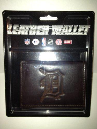 Tigers Tri Fold Leather - MLB Detroit Tigers Tri-Fold Leather Wallet, Brown