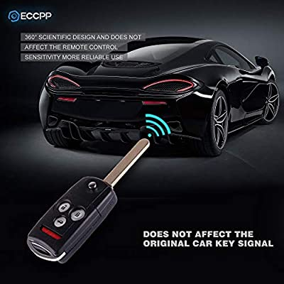 ECCPP Replacement fit for Uncut Keyless Entry Remote Control Car Key Fob Shell Case Honda Accord/Acura MDX/Acura RDX/Acura TL/Acura TSX/Acura ZDX IYZFBSB802(Pack of 1): Automotive