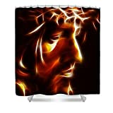 Pixels Shower Curtain (74'' x 71'') ''The Passion Of Christ''
