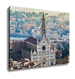 Ashley Canvas, Basilica Of Santa Croce Basilica Of The Holy Cross Florence Italy, Home Decoration Office, Ready to Hang, 20x25, AG5405233