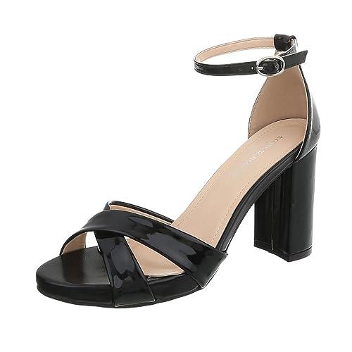 Ital-Design - Sandali donna , Nero (Nero), 40