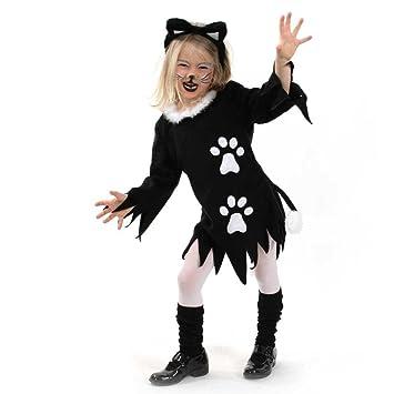 Fasching Karneval Kinder Kostüm Kleid Kätzchen Katze Halloween